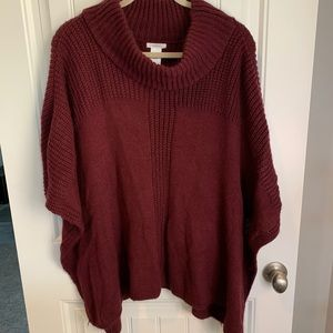 Maurice's poncho mock neck one size